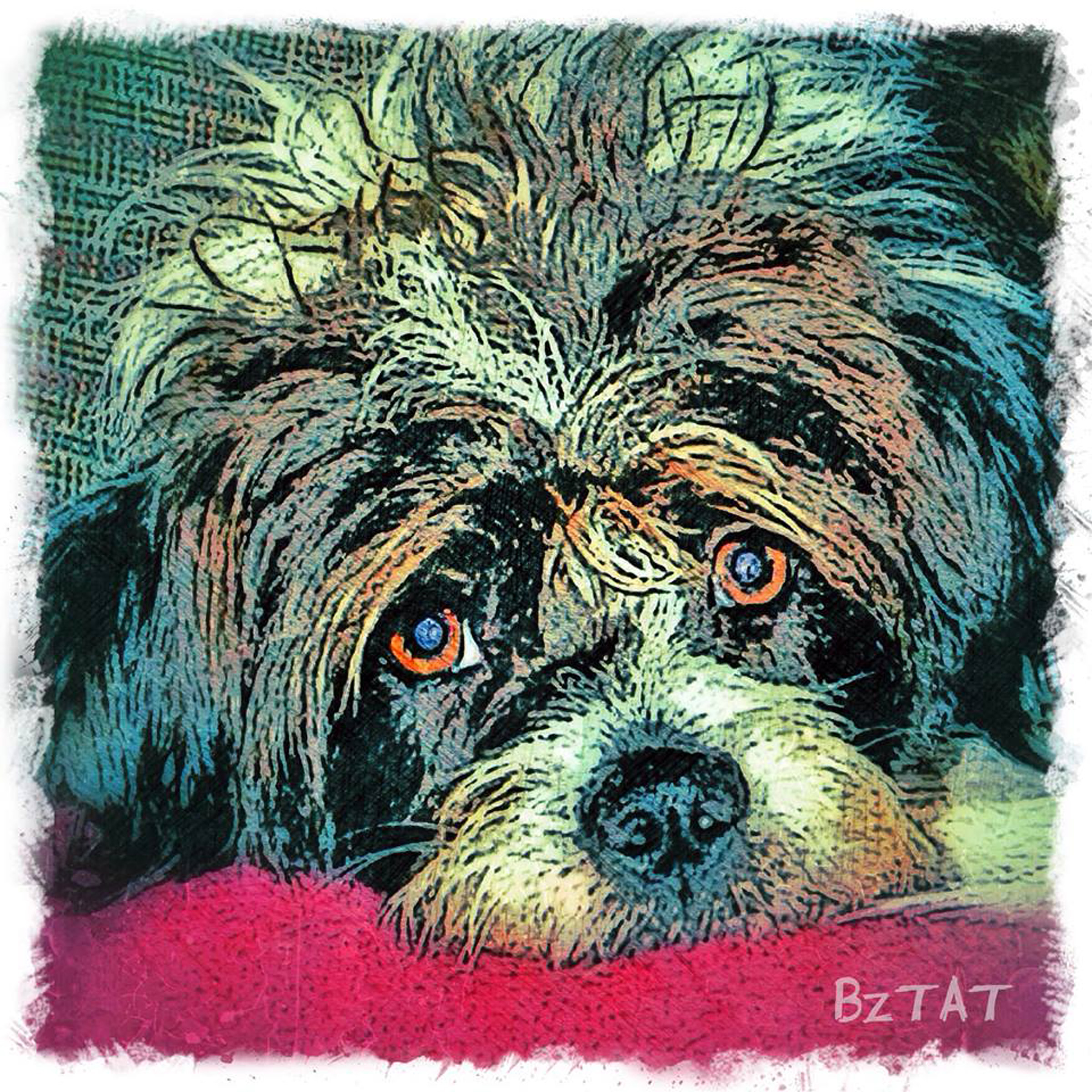 2-Digital-pet-portrait-dog-art-calendar-BZTAT