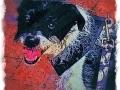 Jack Russel Terrier digital pet dog portrait by BZTAT