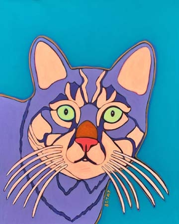 Custom Cat Pet Portrait Painting