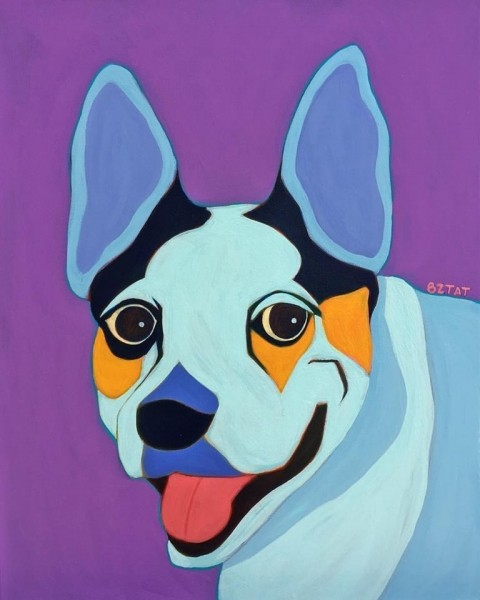 Premiere Contemporary Custom Pet Portrait Paintings Bztat