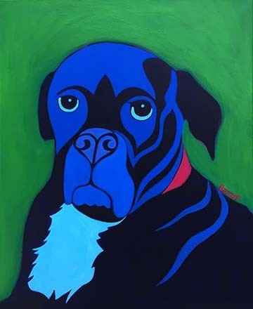 Custom Dog Pet Portrait Painting