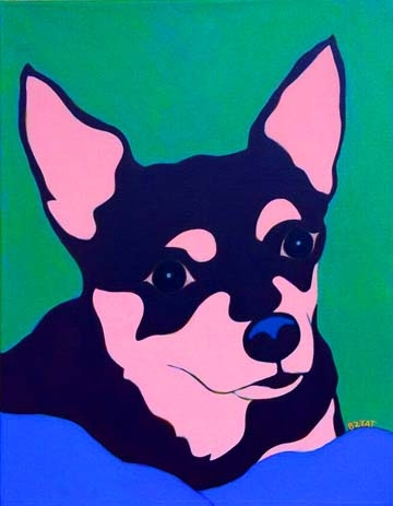 Custom Pet Portrait Painting of a Chihuahua Dog