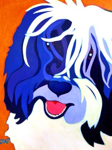 Custom Pet Portrait Painting of a Havanese dog