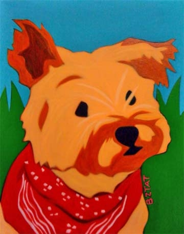 Custom Pet Portrait Painting of a Cairn Terrier