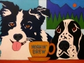Custom Pet Portrait Painting of a Border Collie and an English Cocker Spaniel