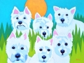 Custom Pet Portrait Painting of six Westie dogs