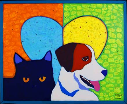 BlogPaws Collaborative Mural by BZTAT