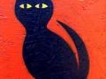 Black Cat painting by BZTAT
