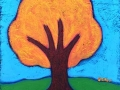 Fall tree painting by BZTAT