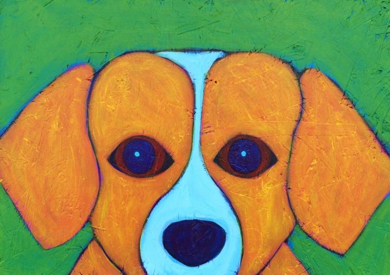 6-Golden-retriever-beagle-dog-painting-contemporary-folk-art-BZTAT