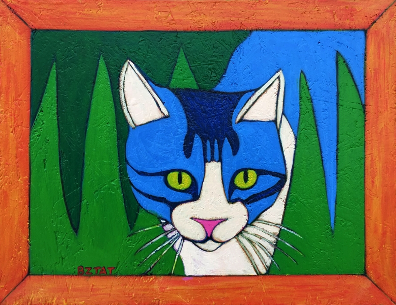 flopsy-grey-white-tabby-cat-folk-art-pet-portrait