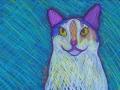 16. Calico Cat Card (Blank Inside)
