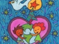 7. Hug Your World Christmas Card (Greeting Inside: Peace on Earth.)