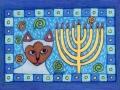 10. Cat Hanukkah Drawing Card (Greeting Inside: Happy Hanukkah!)
