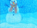 9. Snowman Drawing Card (Greeting Inside: Let it snow!)