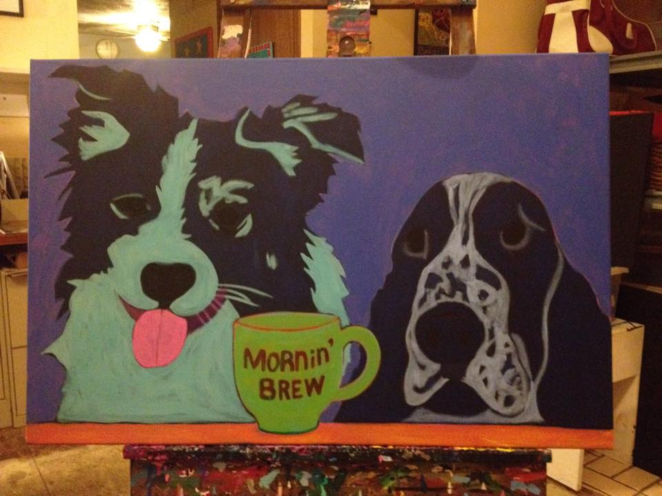 Border-collie-Springer-spainiel-contemporary-pet-portrait-work-in-progress-3.jpg