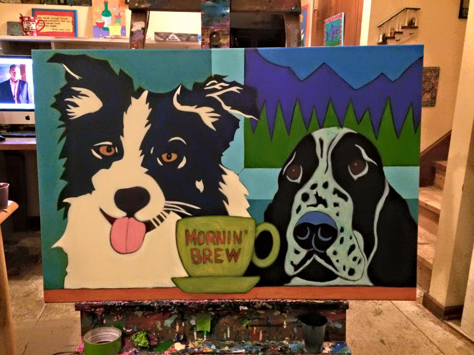 Border-collie-Springer-spainiel-contemporary-pet-portrait-work-in-progress-5.jpg