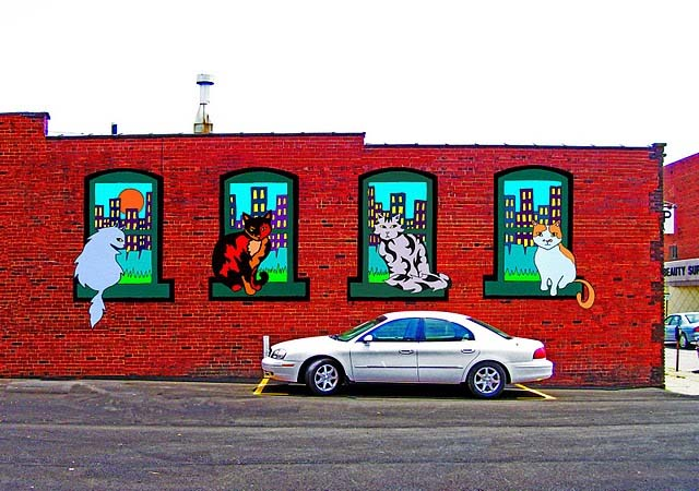Downtown Cats Mural