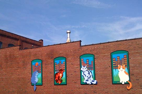 Downtown-cats-mural-exterior-fine-art-pet-Canton-Ohio-Arts-District-BZTAT