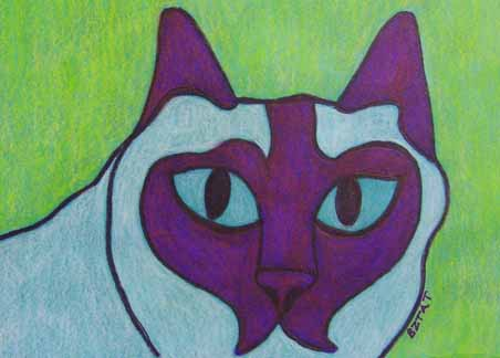 Cat Drawing by BZTAT