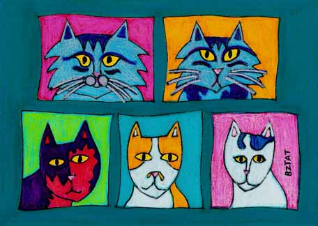 Fabulous-five-cat-friday-drawing-bztat