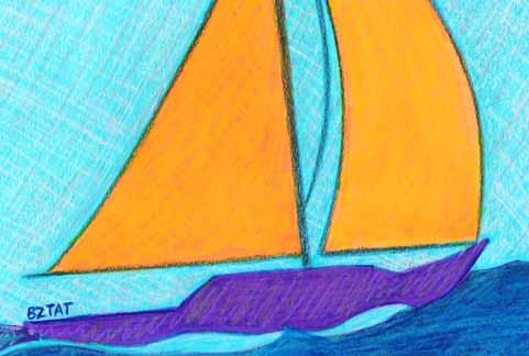 Sailboat drawing BZTAT