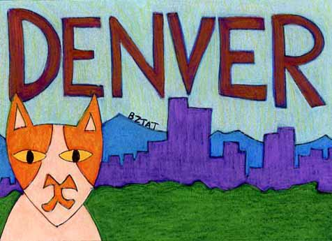 Brewskie-Butt-ginger-white-cat-Denver-Colorado-drawing-