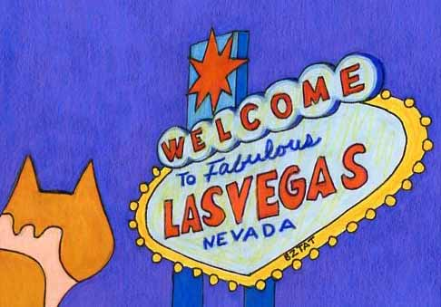 Brewskie-Butt-ginger-white-cat-Las-Vegas-sign