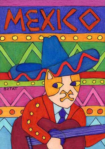 Brewskie-Butt-ginger-white-cat-Mexico-drawing-BZTAT