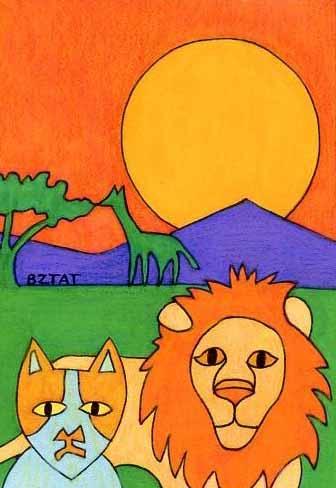 Brewskie-Butt-cat-drawing-Africa-safari
