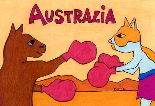 Brewskie-Butt-cat-kangaroo-drawing-Australia
