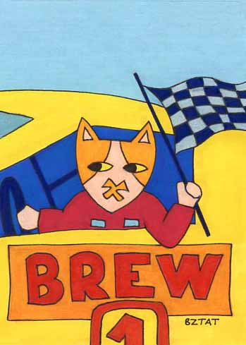 Brewskie-Butt-cat-drawing-Daytona-racing-flag