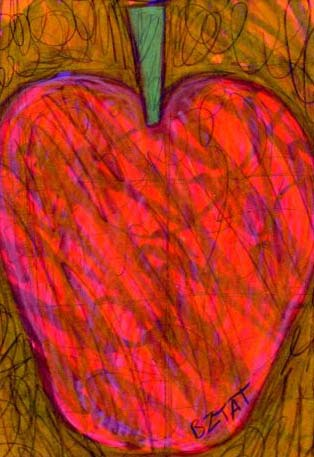 Okey-October-apple-abtract-drawing-bztat