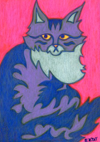 Maine-Coon-Cat-Drawing-abstract-BZTAT