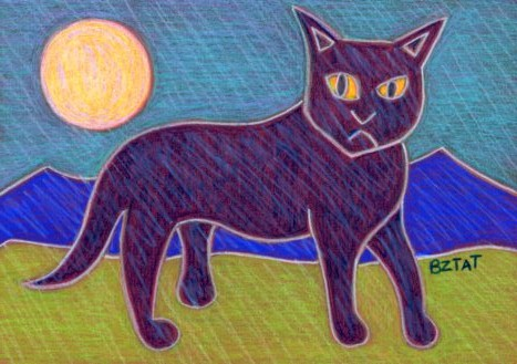 Black-cat-drawing-abstract-contemporary-BZTAT