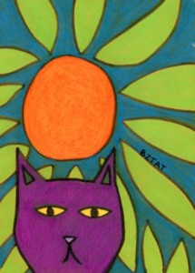 Purple-cat-drawing