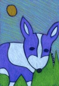 Corgi-dog-drawing