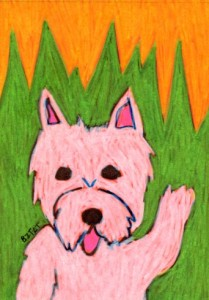 White-Westie-Dog-drawing
