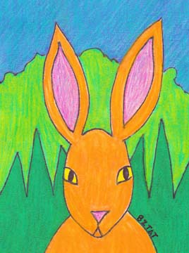 Rabbit drawing by BZTAT