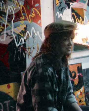Artist BZTAT in 1985 at Marshall University