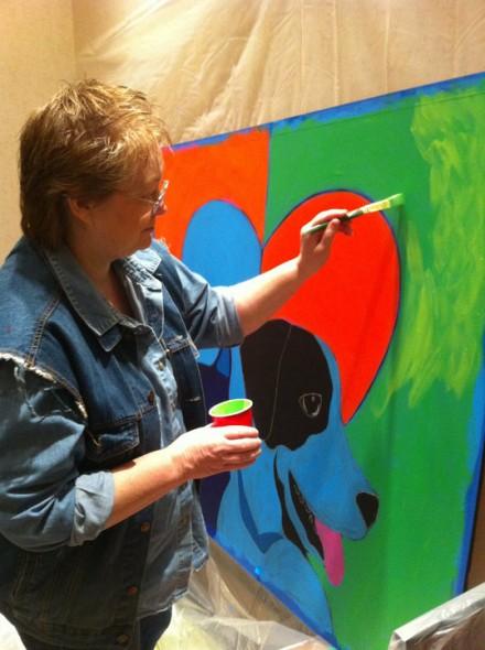 Artist BZTAT painting