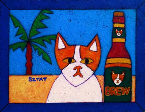 Brewskie Butt beach painting by BZTAT