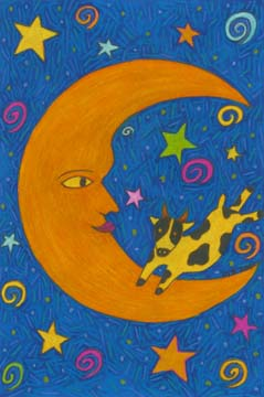 Cow jumped over the moon drawing by BZTAT