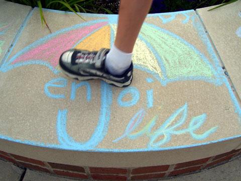 Enjoi Life Chalk Art