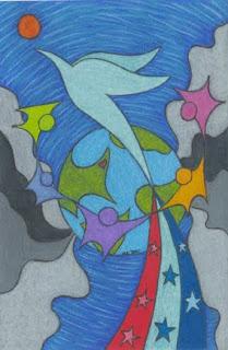Drawing September 11 tribute