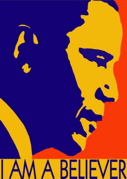 Barack Obama 2012 poster art by BZTAT