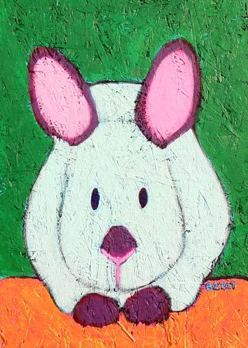 Himalayan rabbit painting contemporary BZTAT