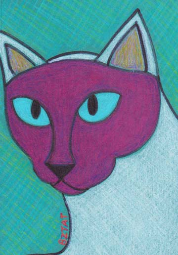Siamese Cat drawing by BZTAT