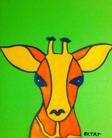 Giraffe Drawing by BZTAT