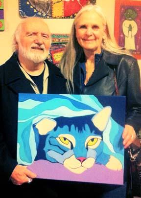 Tabby Cat Portrait Painting by BZTAT